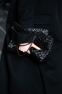 Valentino Black Rockstud Large Flap Bag - Fall 2016