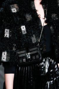 Valentino Black Rockstud Mini Flap Bag - Fall 2016