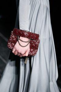 Valentino Burgundy Rockstud Small Flap Bag - Fall 2016