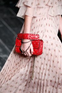 Valentino Red Rockstud Small Flap Bag - Fall 2016
