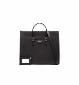 Balenciaga Black City Plate Portfolio Medium Bag