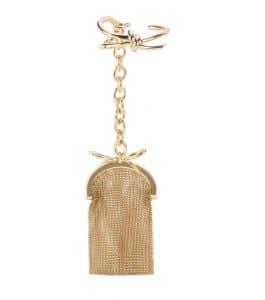 Balenciaga Gold Bow Bracelet Pouch Bag