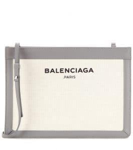 Balenciaga Grey/Natural Navy Pochette S Bag