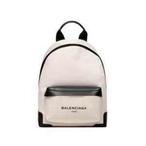 Balenciaga Natural/Black Navy Backpack Bag