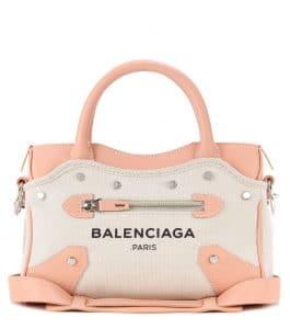 Balenciaga Natural/Rose Ballerine Belharra Mini City Bag