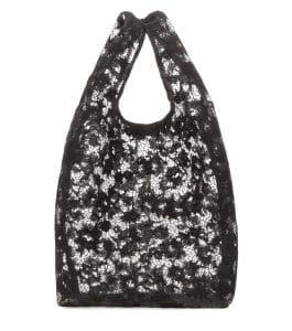 Balenciaga Noir Lace Shopper Bag
