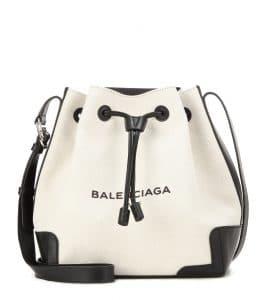 Balenciaga Noir/Natural Navy Bucket Bag