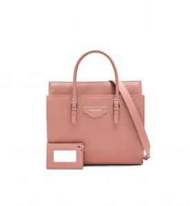 Balenciaga Old Pink City Plate Portfolio Small Bag