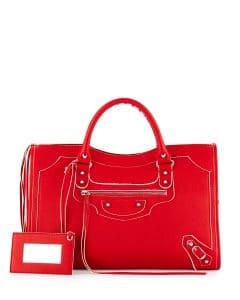 Balenciaga Red Highlight City Bag