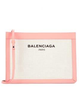 Balenciaga Rose Ballerine/Natural Balenciaga Grey:Natural Navy Pochette S Bag