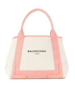 Balenciaga Rose Ballerine/Natural Navy Cabas S Bag