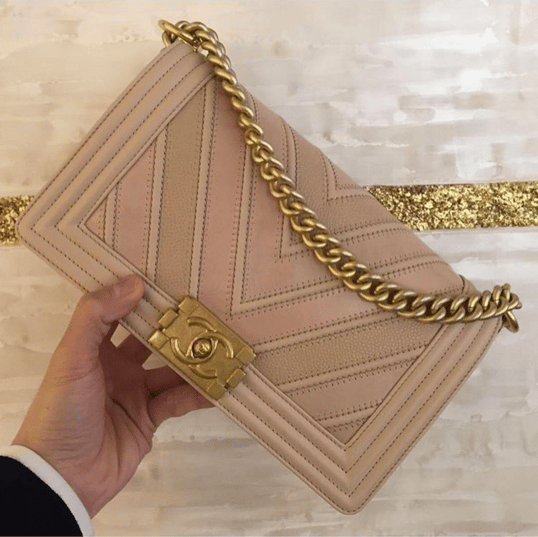 afd5978ec9a828 Chanel Boy Chevron Mix Leather Flap Bag From Spring/Summer 2016 ...