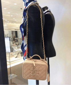 Chanel Beige CC Filigree Vanity Case Small Bag 2