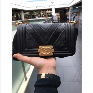 Chanel Black Boy Chevron Small Flap Bag