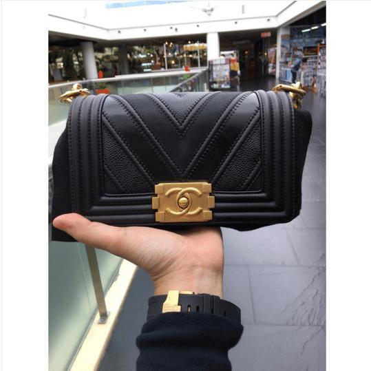 f83992900d8438 ... Old Medium Flap Bags. IG: parisbazaar. Chanel Black Boy Chevron Small  Flap Bag. IG: 9naliga