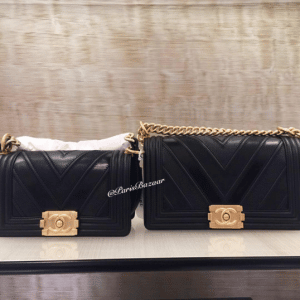 Chanel Black Boy Chevron Small and Old Medium Flap Bags