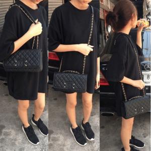 Chanel Black CC Filigree Flap Bag