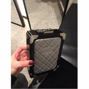 Chanel Black/Silver Evening In The Air Mini Trolley Bag