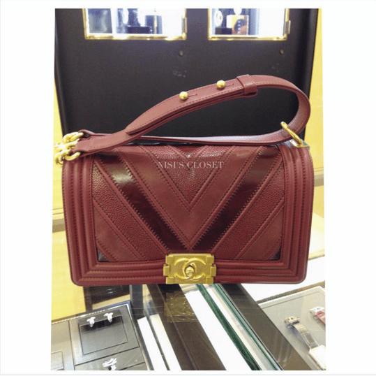 4737fad035926a Chanel Burgundy Boy Chevron Old Medium Flap Bag 2. IG: nisiscloset2