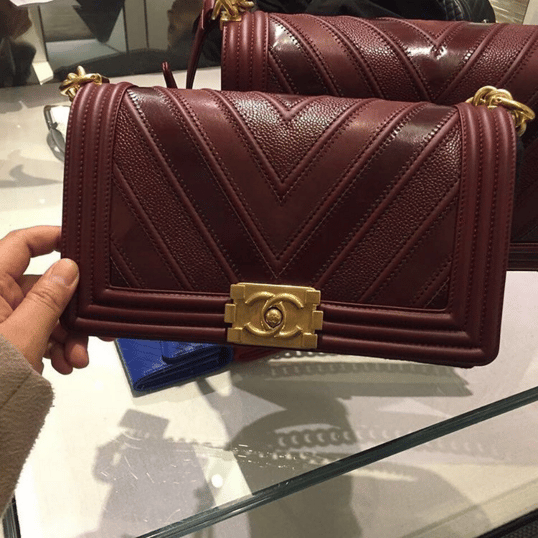 1178912e4b04 Chanel Boy Chevron Mix Leather Flap Bag From Spring/Summer 2016 ...
