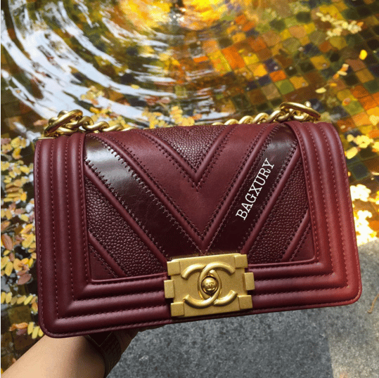 5f665ec3e359 Chanel Boy Chevron Mix Leather Flap Bag From Spring/Summer 2016 ...
