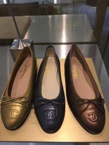 Chanel Gold/Black/Bronze Ballerina Flats