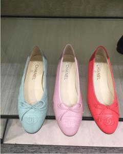 Chanel Light Green/Pink/Fuchsia Ballerina Flats