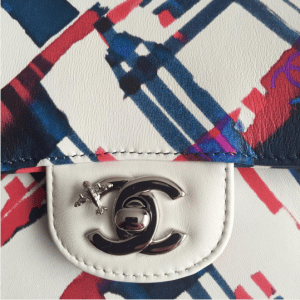 Chanel Multicolor Printed Flap Bag