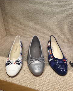 Chanel Multicolor/Grey Ballerina Flats