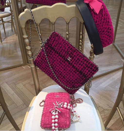9494b0f54c68 Chanel Pink Tweed Clutch Bags - Fall 2016. IG  luksusowezakupy