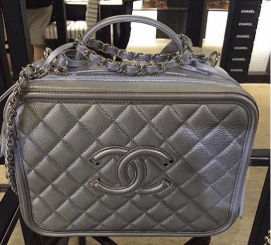 1c30f8dec707 Chanel Silver CC Filigree Vanity Case Medium Bag. IG  vipaccessori