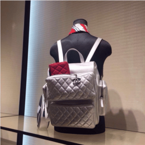 Chanel Silver Casual Rock Backpack Bag
