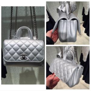 Chanel Silver Pilot Essentials Flap Small Bag