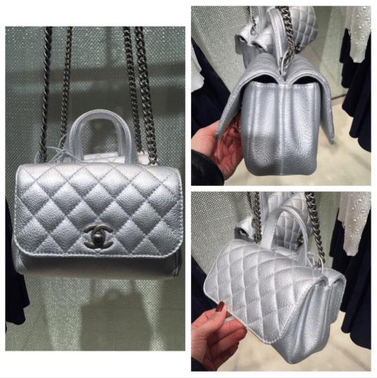 d6ae0da61097 Chanel Silver Pilot Essentials Flap Small Bag. IG  lux brands boutique