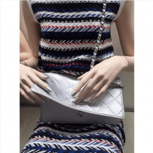Chanel Silver Propeller Flap Small Bag