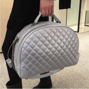 Chanel Silver Round Trip Bag