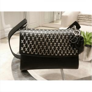 Dior Black Embellished Be Dior Double Flap Bag