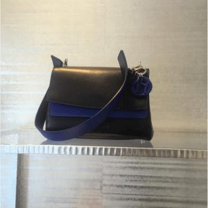 Dior Black/Blue Be Dior Double Flap Bag