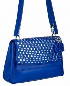 Dior Blue Embellished Be Dior Double Flap Bag