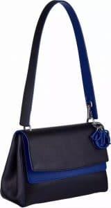 Dior Dark Blue/Blue Be Dior Double Flap Bag