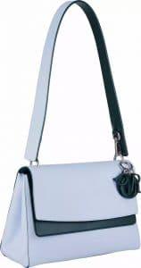 Dior Light Blue/Dark Green Be Dior Double Flap Bag