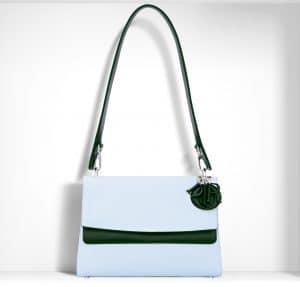 Dior Sky Blue/Racing Green Be Dior Double Flap Bag