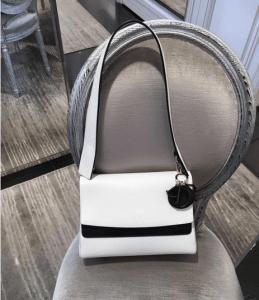 Dior White/Black Be Dior Double Flap Bag 2
