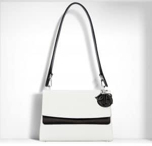 Dior White/Black Be Dior Double Flap Bag