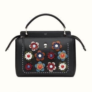 Fendi Black Flowerland Dotcom Bag