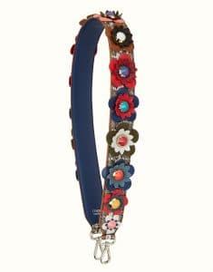 Fendi Multicolor Elaphe Flowerland Strap You