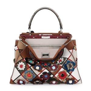 Fendi Multicolor Flowerland Peekaboo Medium Bag