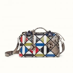 Fendi Multicolor Python Flowerland By The Way Bag