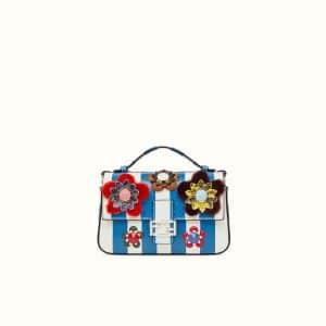 Fendi Multicolor Python Flowerland Double Micro Baguette Bag
