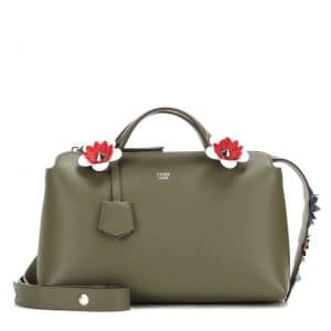 Fendi Olive Green Flowerland By The Way Small Bag